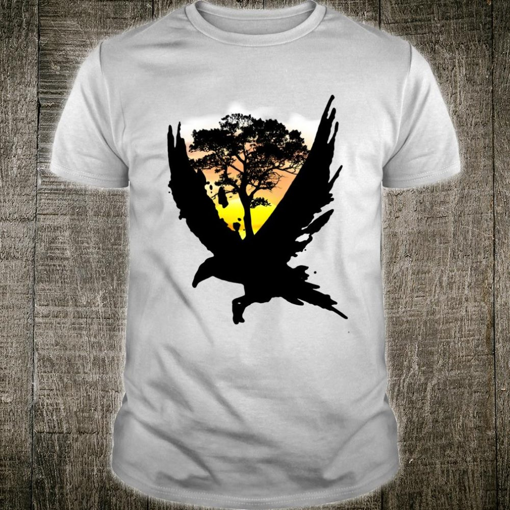 Sunset Tree and Eagle Nature Shirt