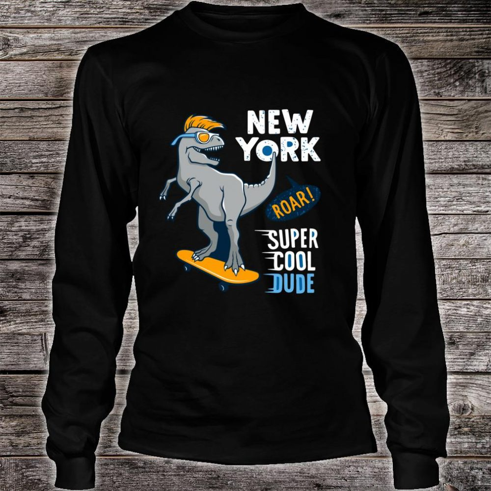 Super Cool Dude TRex Skater Awesome for Young Skaters Shirt long sleeved