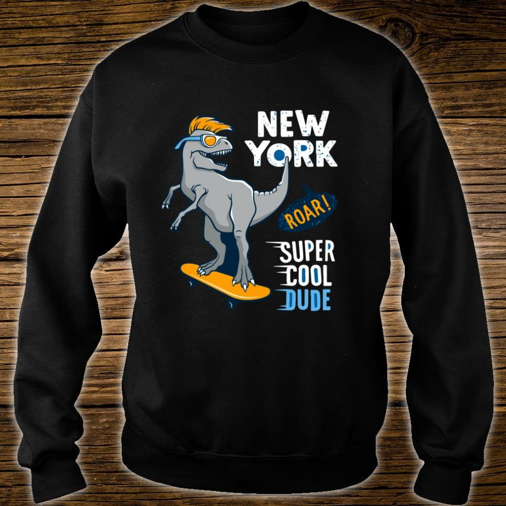 Super Cool Dude TRex Skater Awesome for Young Skaters Shirt sweater