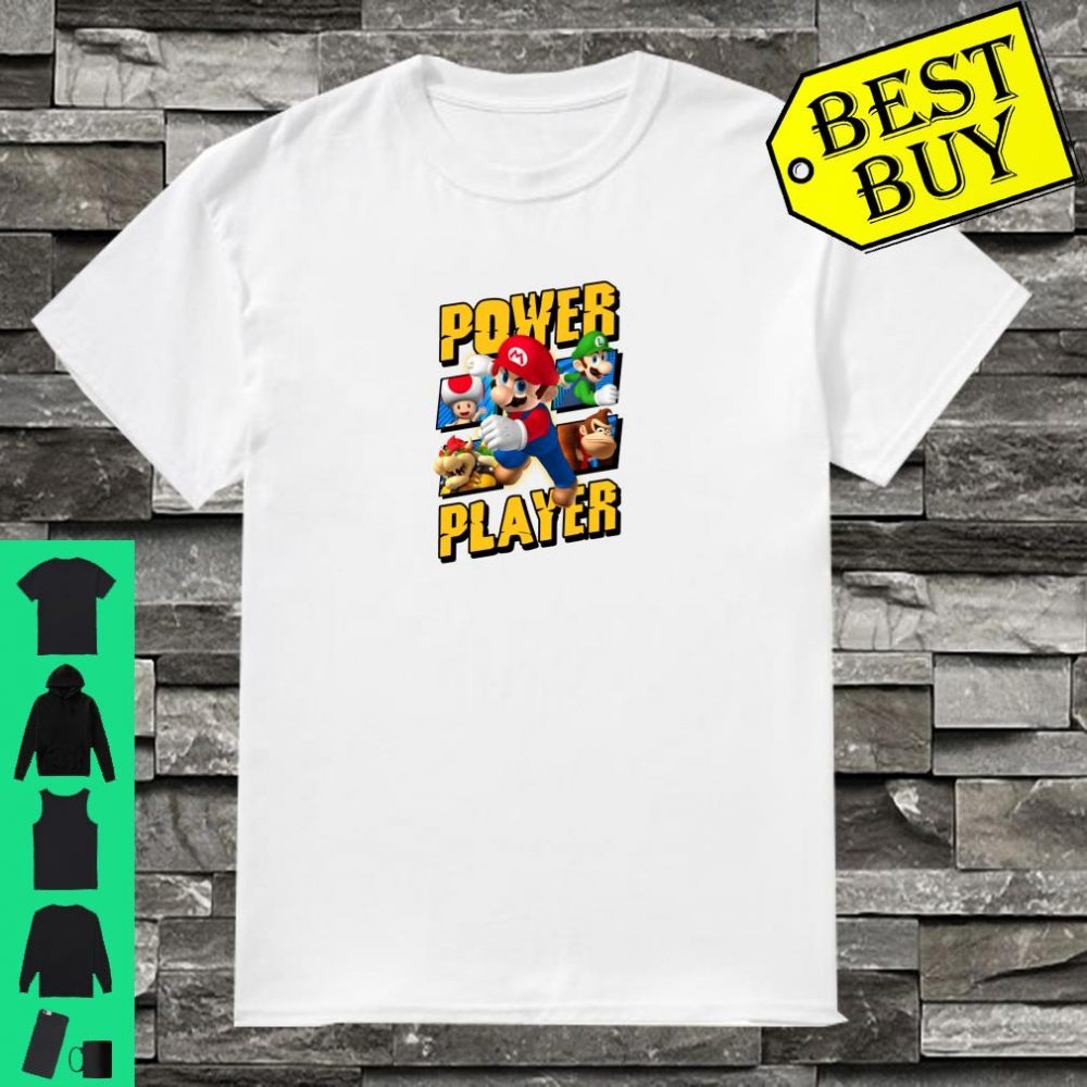 Super Mario Group Shot Power Player Shirt
