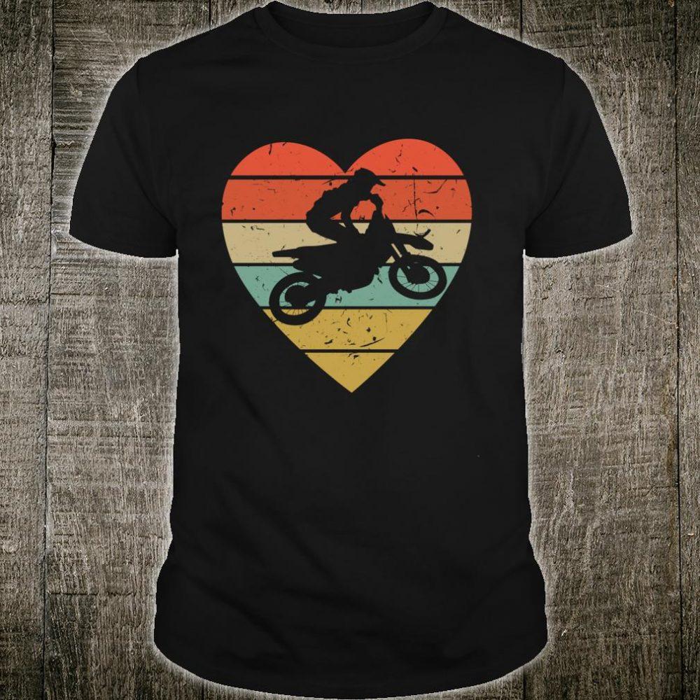 Supercross Vintage Design Retro Motocross Heart Sport Fan Shirt