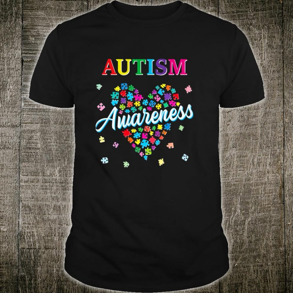 Support Autism Awareness Love Strong Puzzle Pieces Mom Shirt