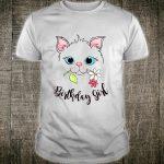 Sweet Kitten Face Birthday Girl kitty Shirt