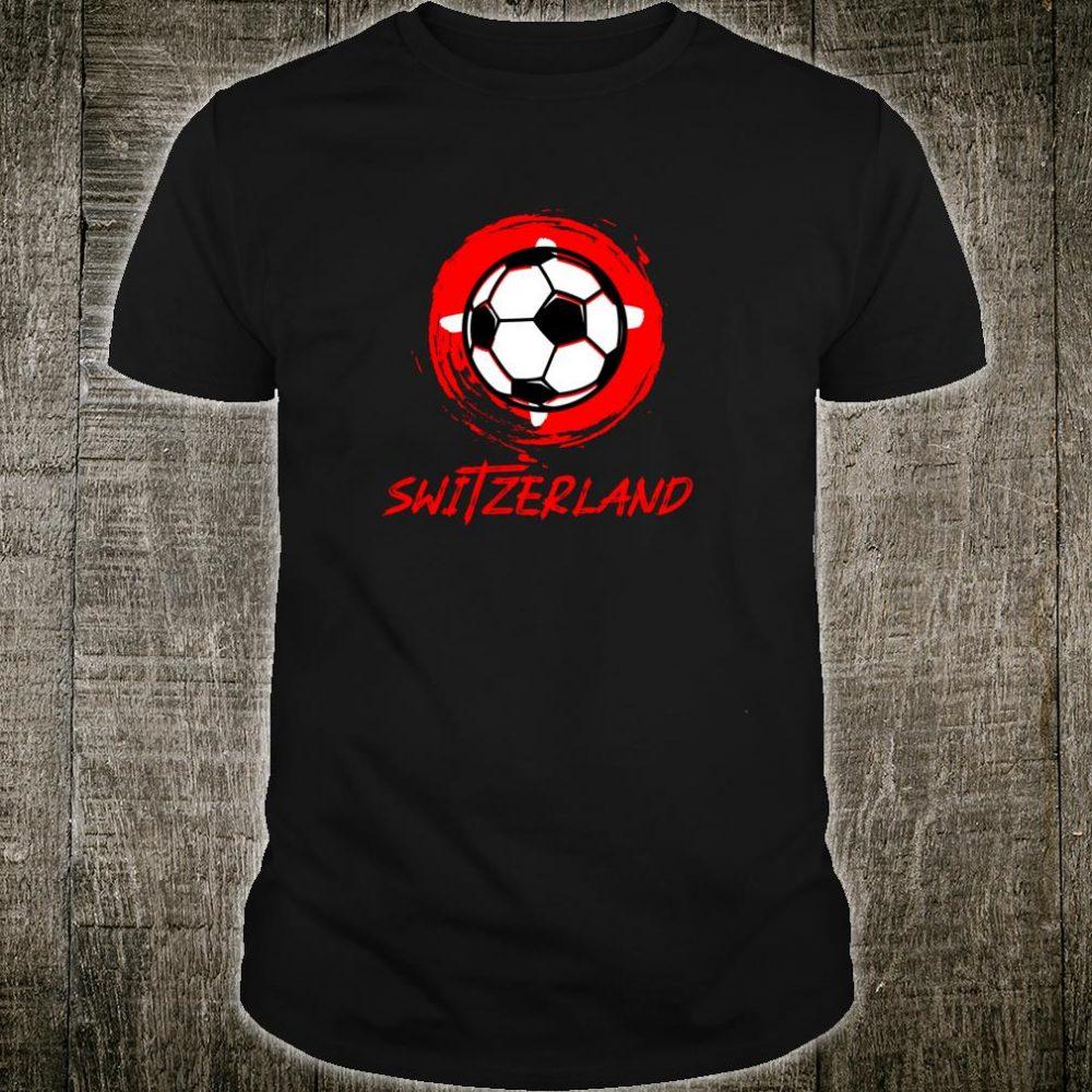 Switzerland Soccer Flags I Fußball Fan Suisse Shirt