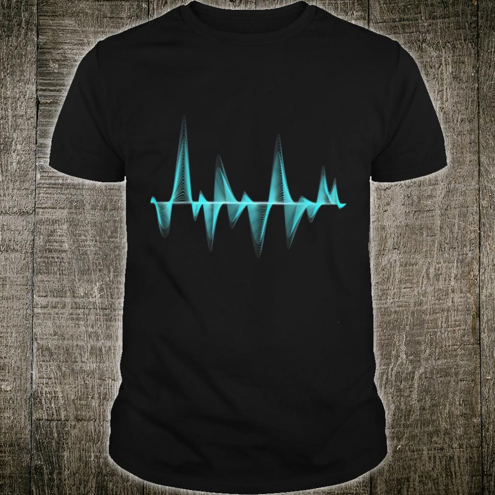 Synthesizer Sound Wave Blue Digital Line Art Shirt