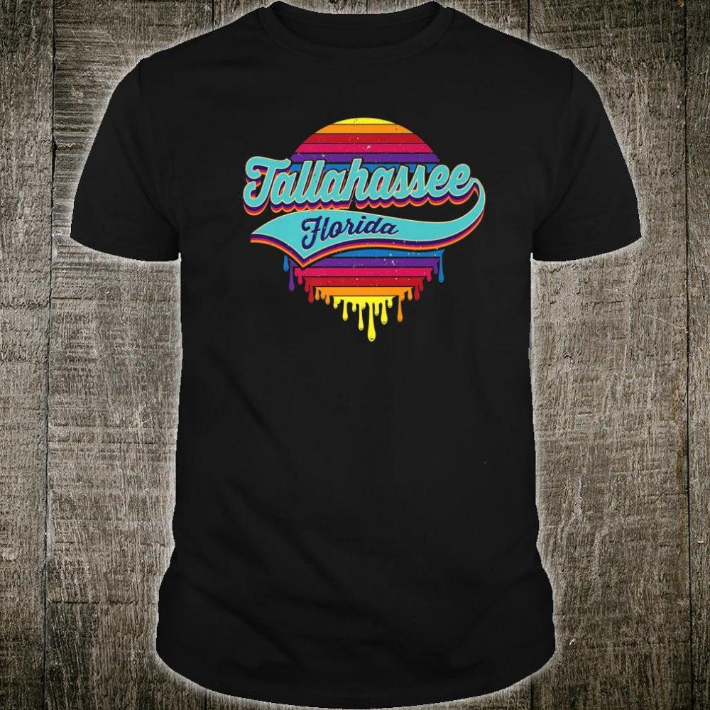 Tallahassee, Florida Typographic Dripping Paint Design Shirt