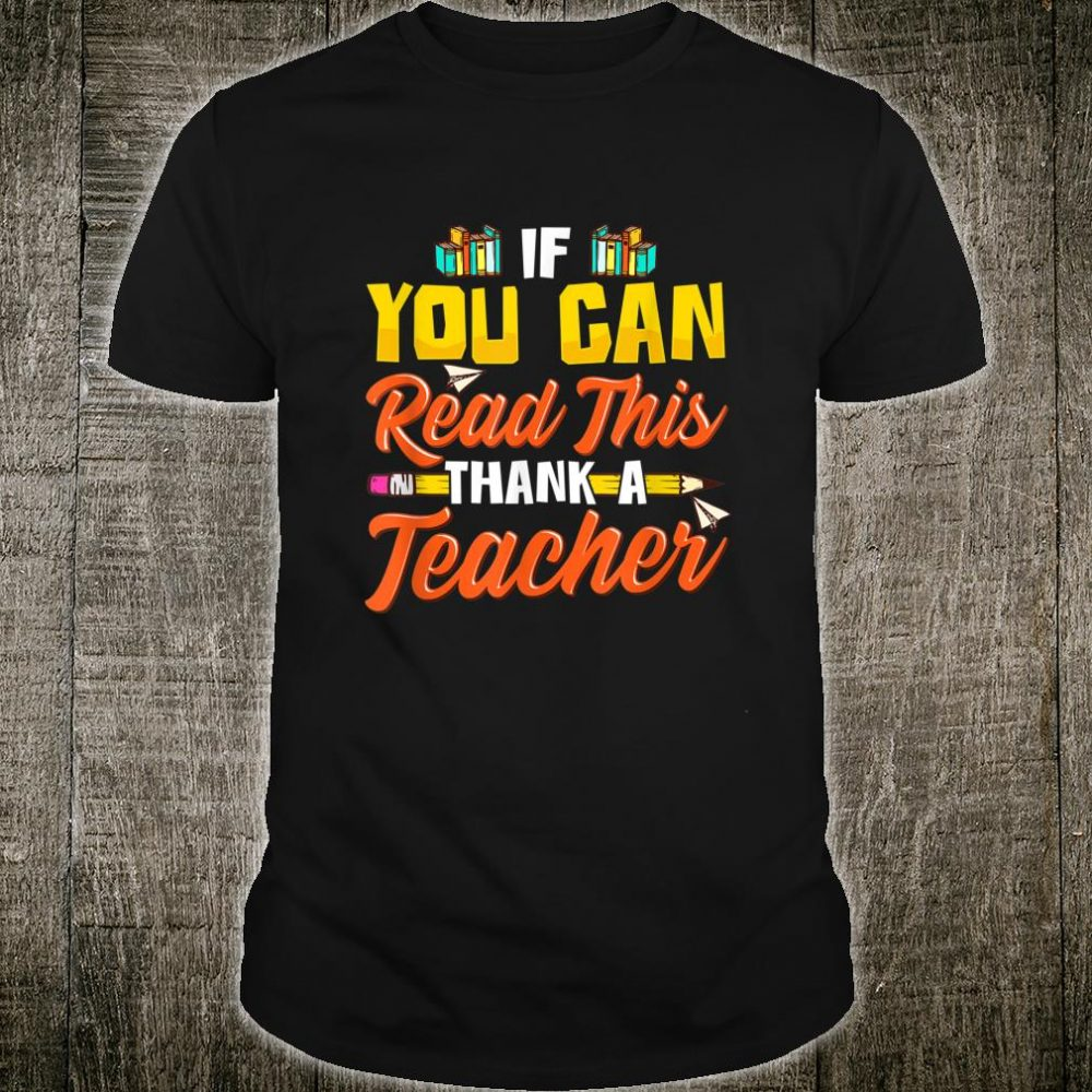 Teacher Appreciation for Reading Instruction Shirt