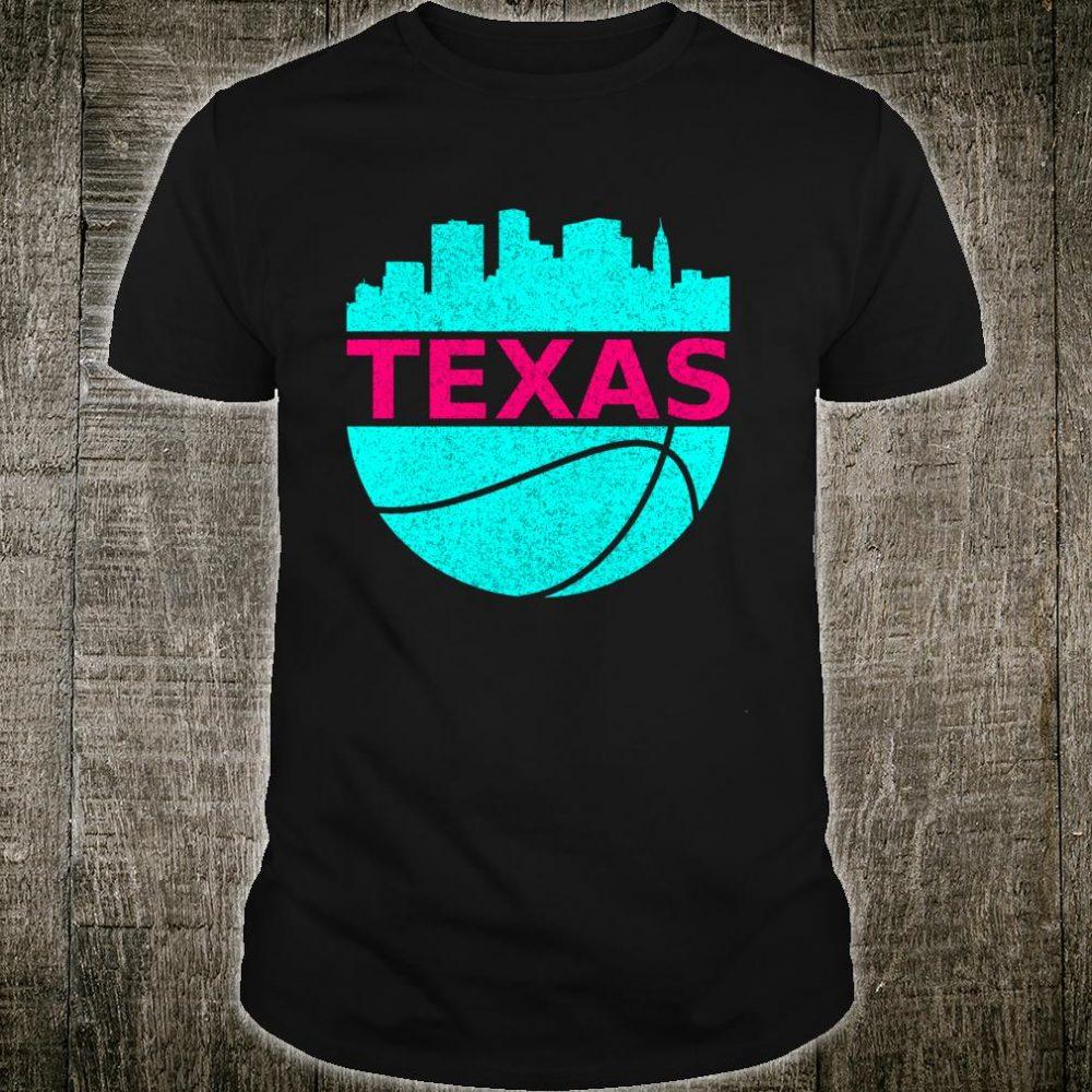 Texas USA Cityscape vintage retro basketball us state Shirt