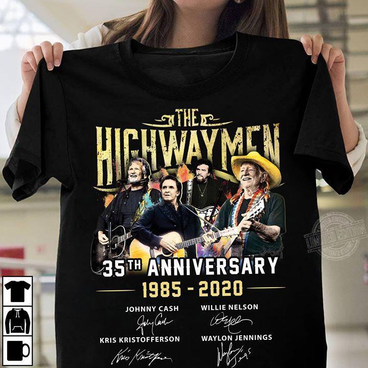 The Highwaymen 35th Anniversary 1985-2020 Signatures Shirt