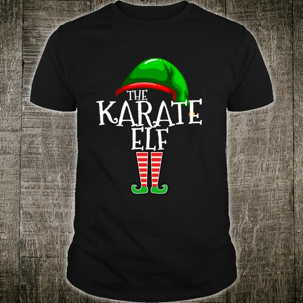 The Karate Elf Group Matching Family Christmas Outfit Shirt