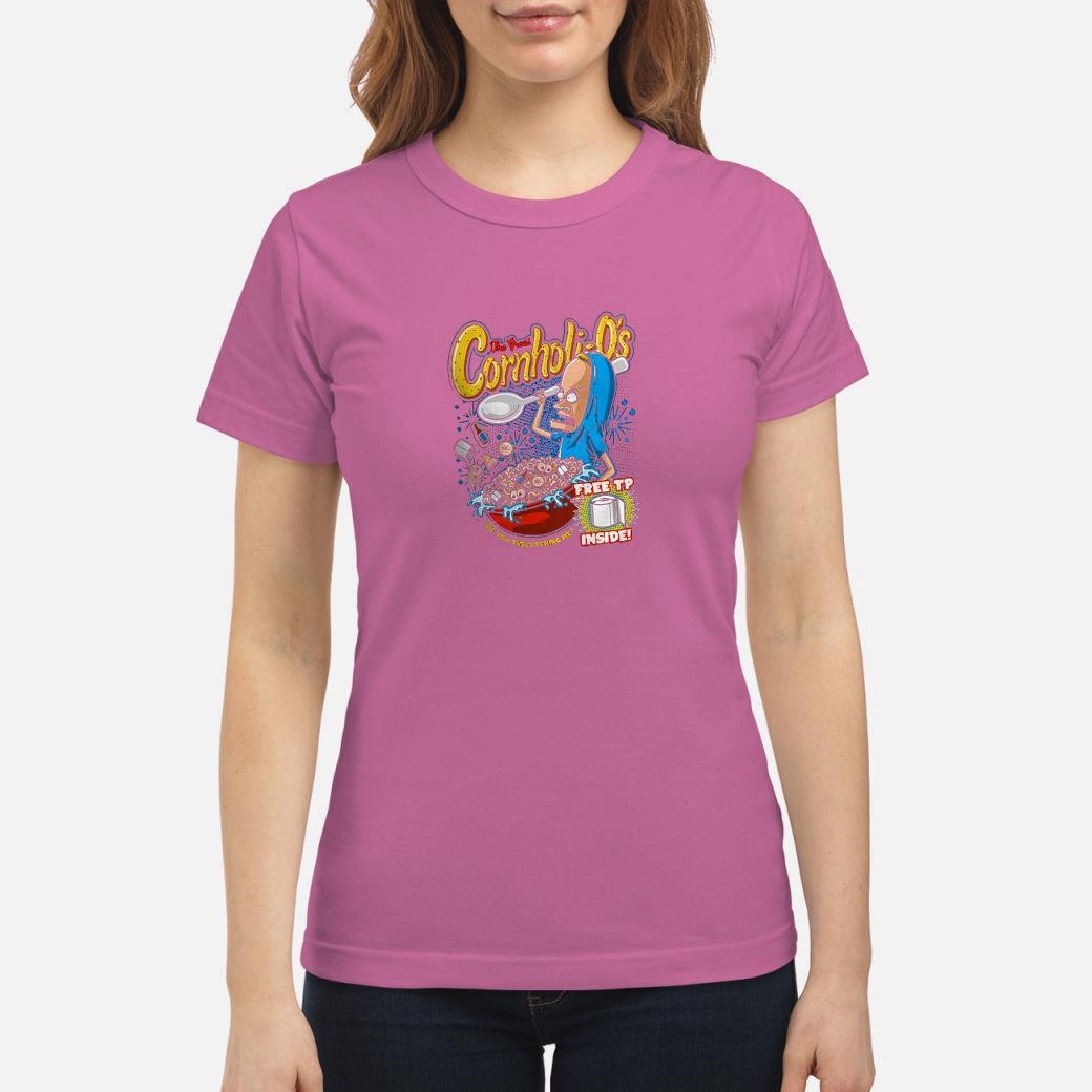The great cornholio are you threatening me free to inside shirt ladies tee