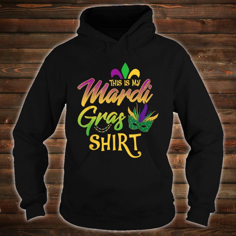This Is My Mardi Gras Mask Beads Shirt hoodie