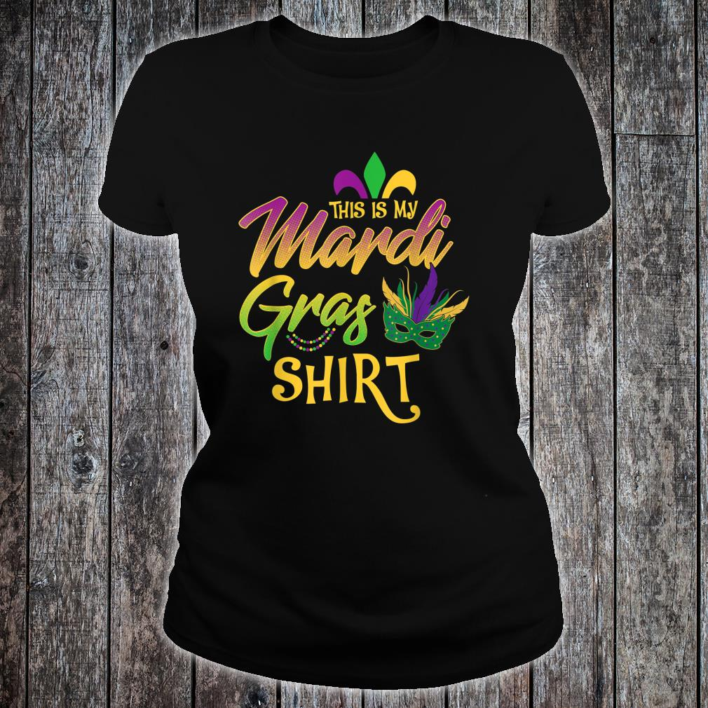 This Is My Mardi Gras Mask Beads Shirt ladies tee