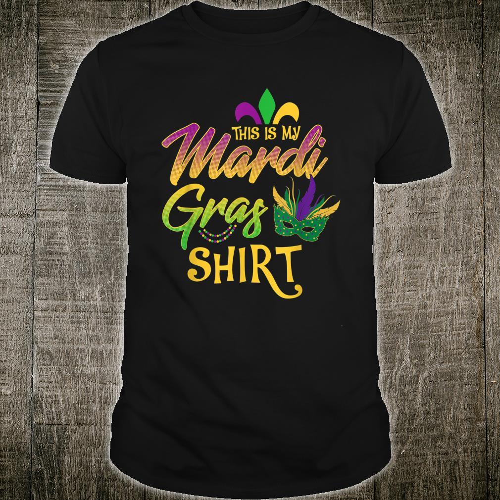 This Is My Mardi Gras Mask Beads Shirt