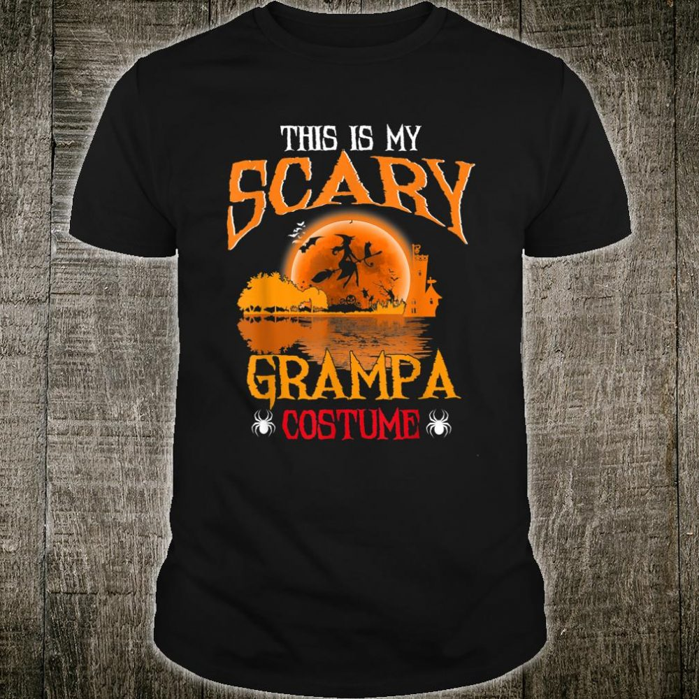 This Is My Scary Grampa Costume Guitar Lake Shadow Shirt