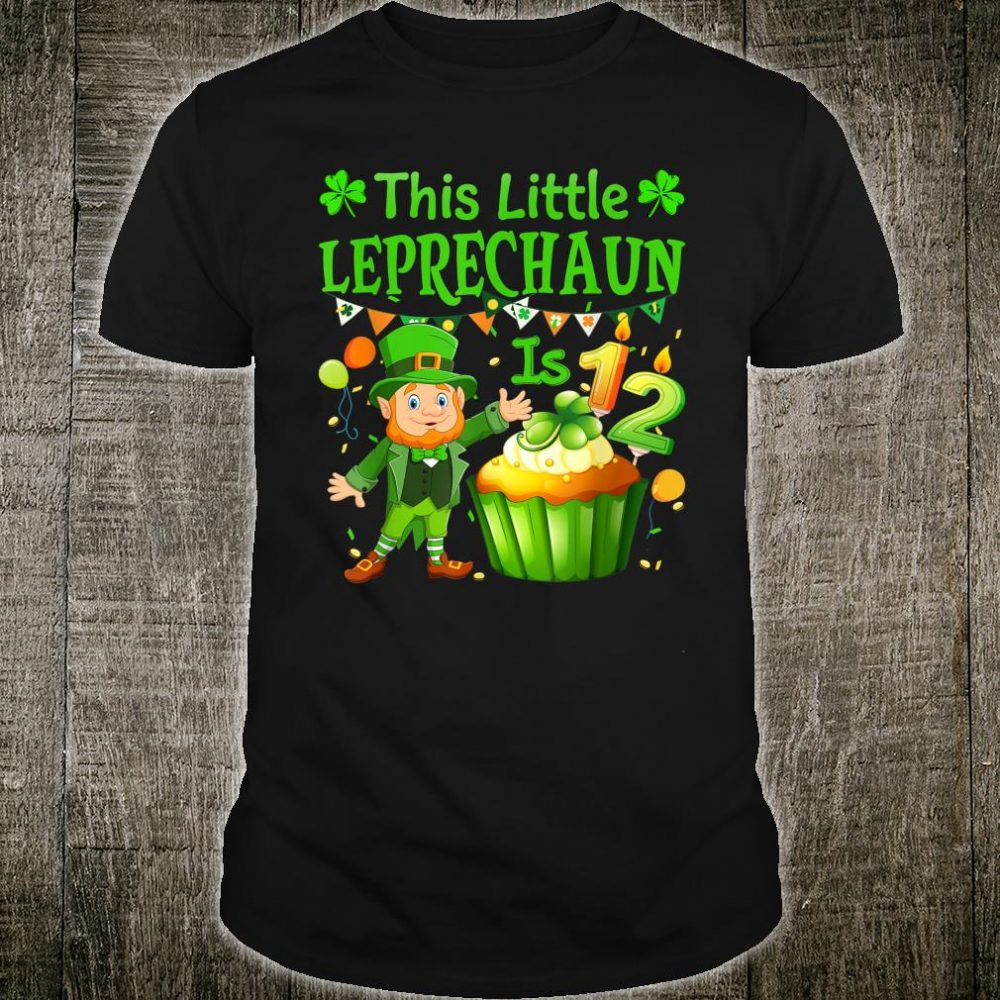This Little Leprechaun Is 12 years old Birthday Patricks Day Shirt