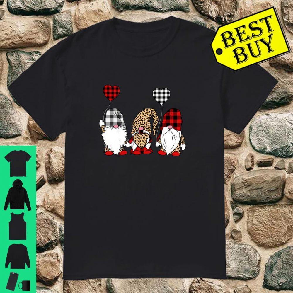 Three Gnomes Giving Hearts Valentines Girls Shirt