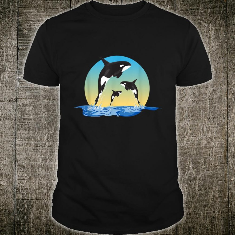 Three Orca on the sea nature holiday sport cool design Shirt