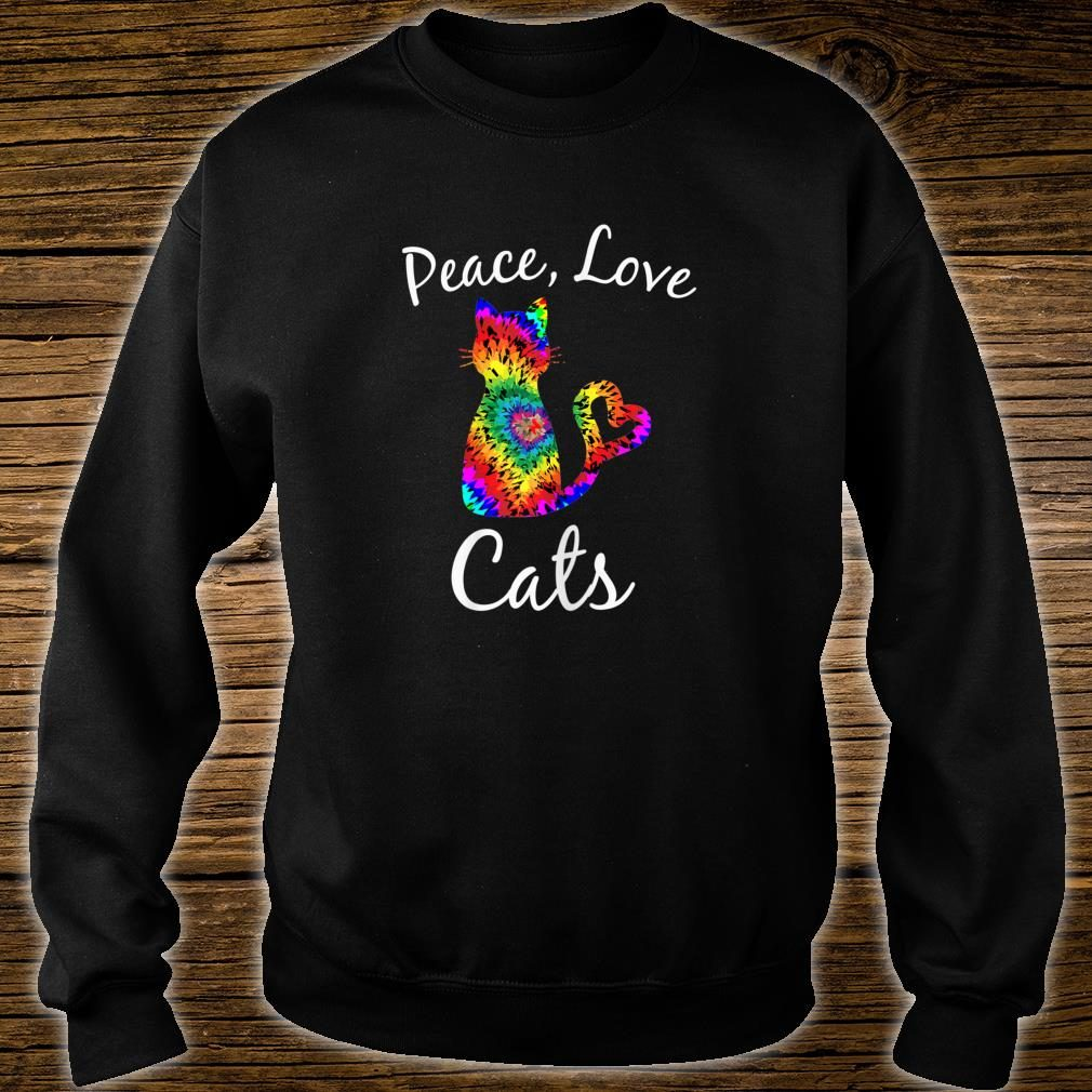 Tie Dye Cat Peace Love Cats Tie Dyed Style Kitty Cat Lover shirt sweater