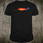 Tie Dye Narwhal Rainbow Print Narwhale Hippie Peace Shirt