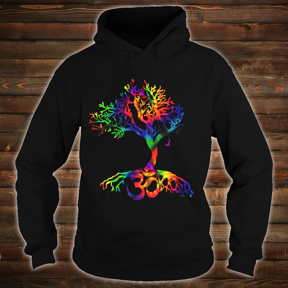 Tie Dye Style Tree of Life with Om symbol Shirt hoodie
