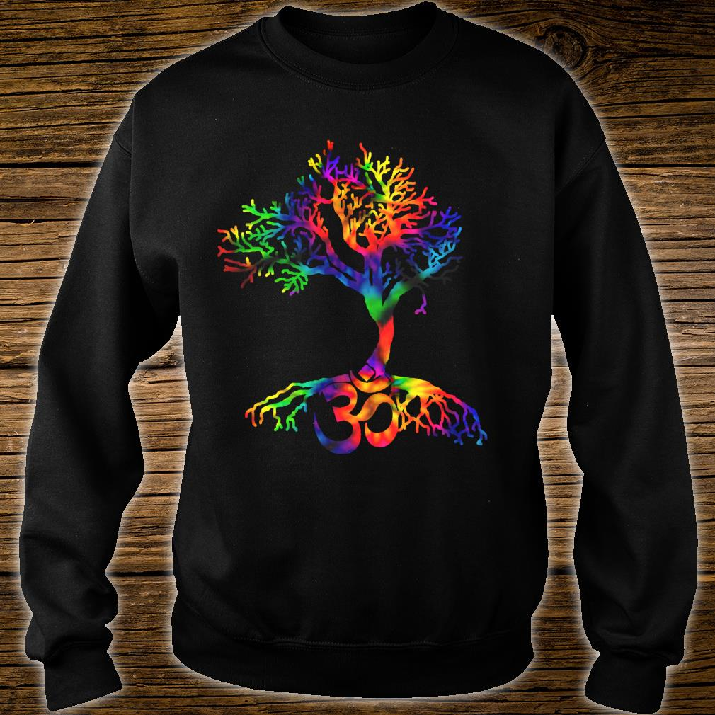 Tie Dye Style Tree of Life with Om symbol Shirt sweater