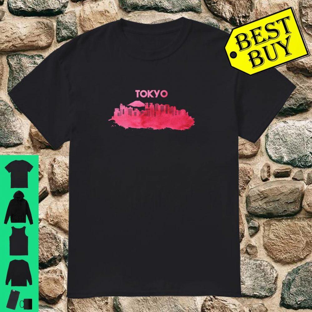 Tokyo skyline, World Football Souvenir Stadt Aquarell Shirt