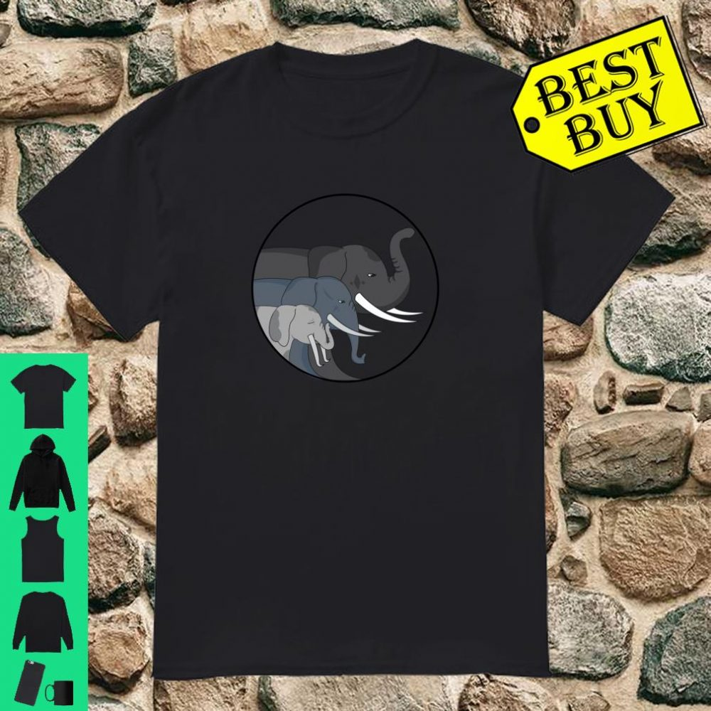 Trio Size Elephant Face Kawaii Cute Christmas Gift Idea Shirt