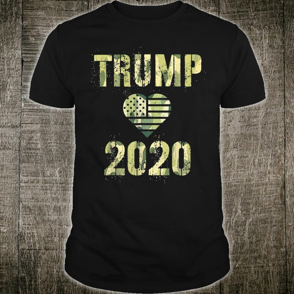Trump 2020 Love US President Camo Flag Republican Supporter Shirt