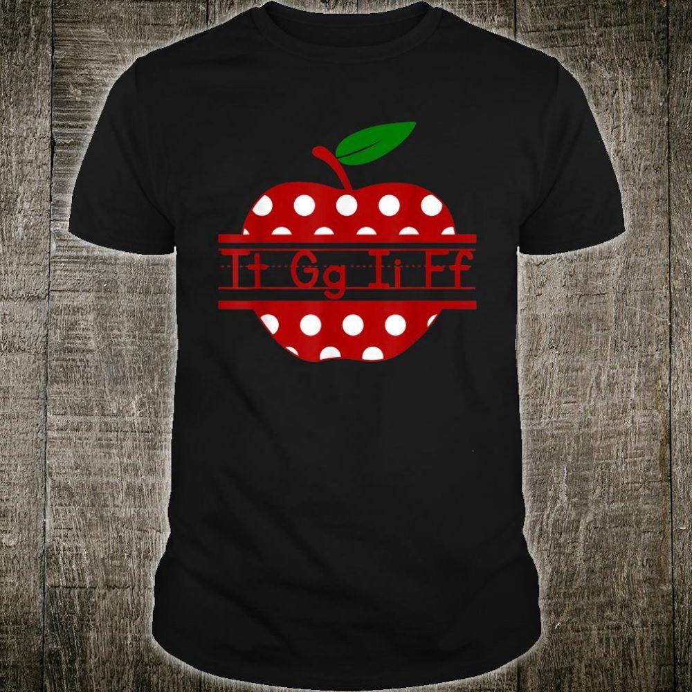 Tt Gg Ii Ff Apple Polka Dot Cute Teacher Shirt