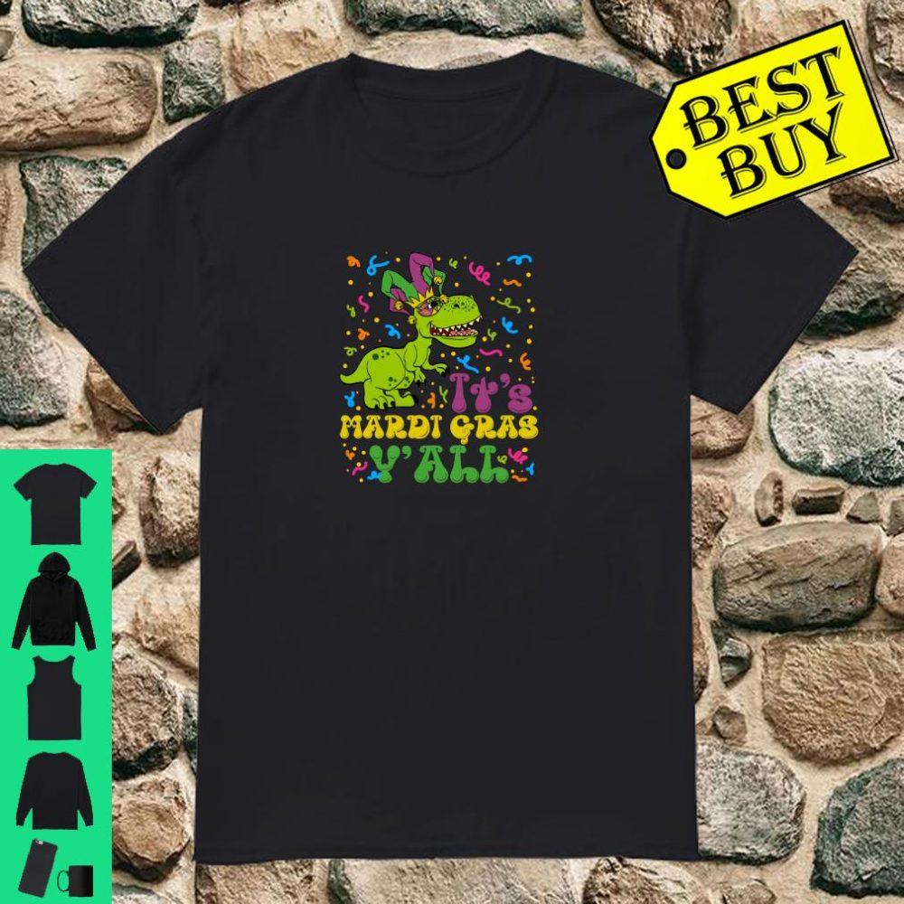 Tyrannosaurus Dino Mardi Gras Time Y'all Shirt