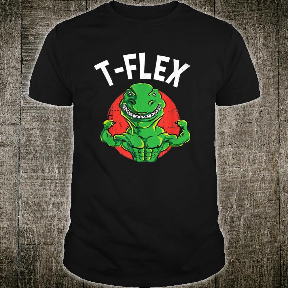 Tyrannosaurus Flex T Rex Pun Dino Weightlifter Shirt