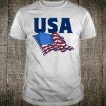 USA American Flag Minimalist Retro 80's Shirt