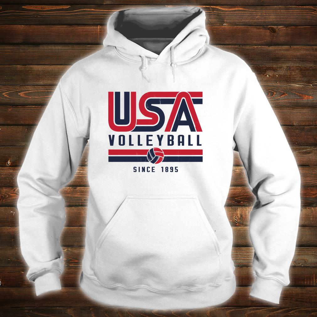 USA Distressed Effect Classic Volleyball design Red and blue Shirt hoodie