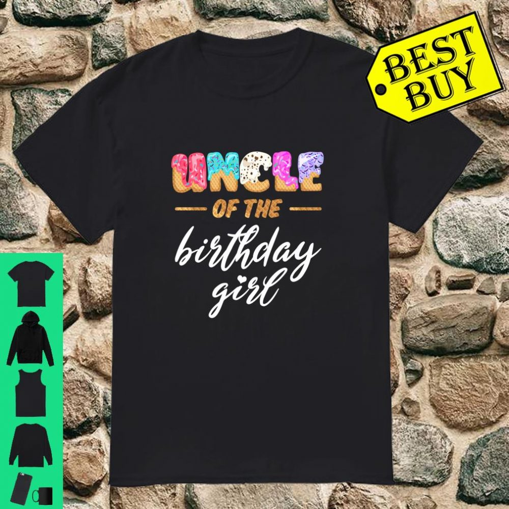 Uncle Of The Birthday Girl Family Waffle Birthday Shirt