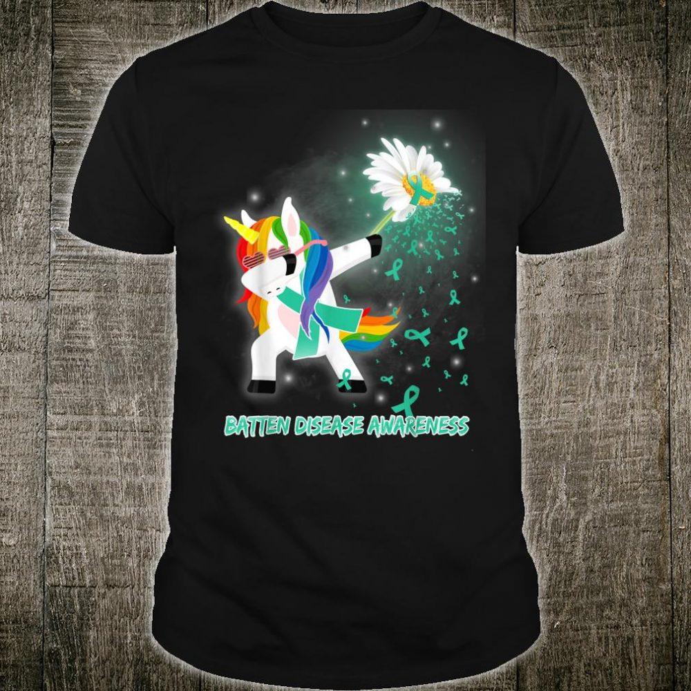 Unicorn BATTEN DISEASE Awareness Daisy Ribbon Survivor Shirt