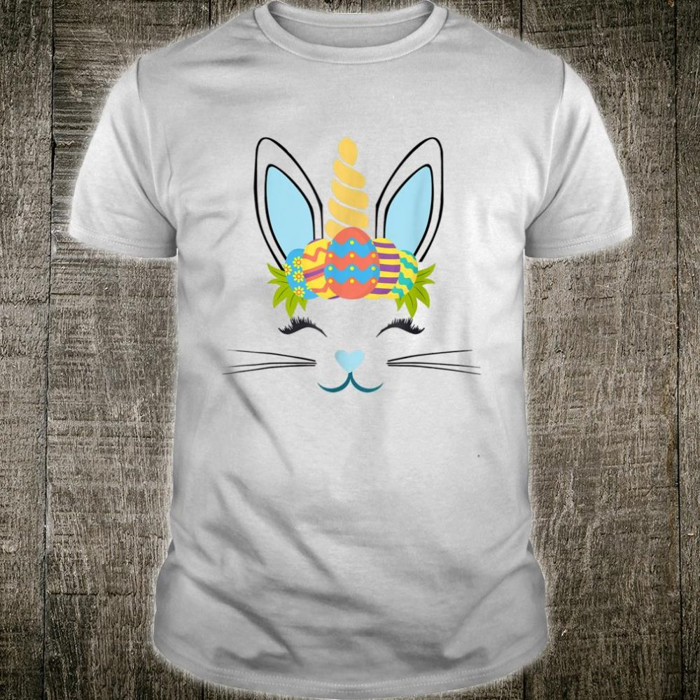 Unicorn Face Easter Eggs Happy Easter Day Shirt