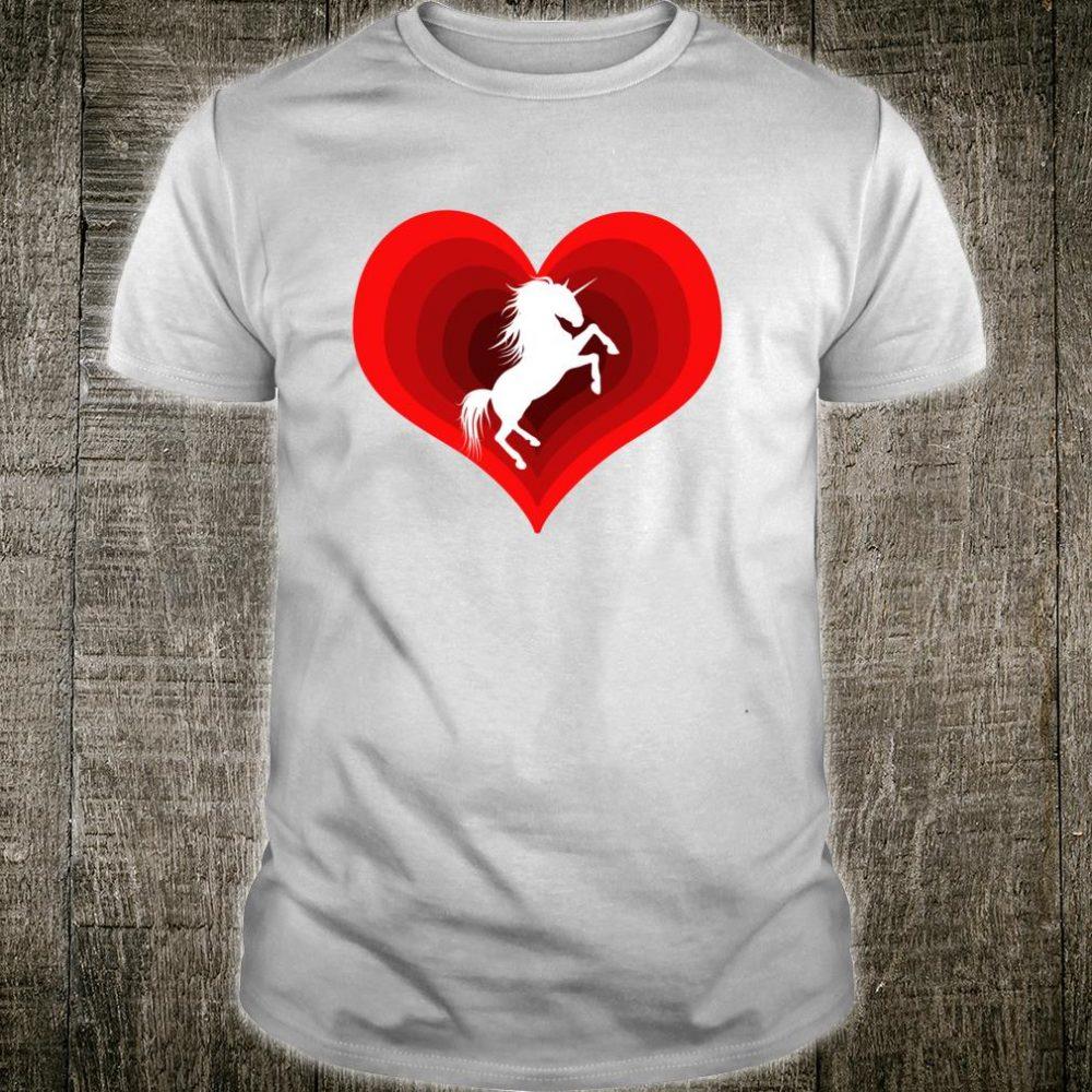 Unicorn Unicorns Unicorne Love Heart Shirt