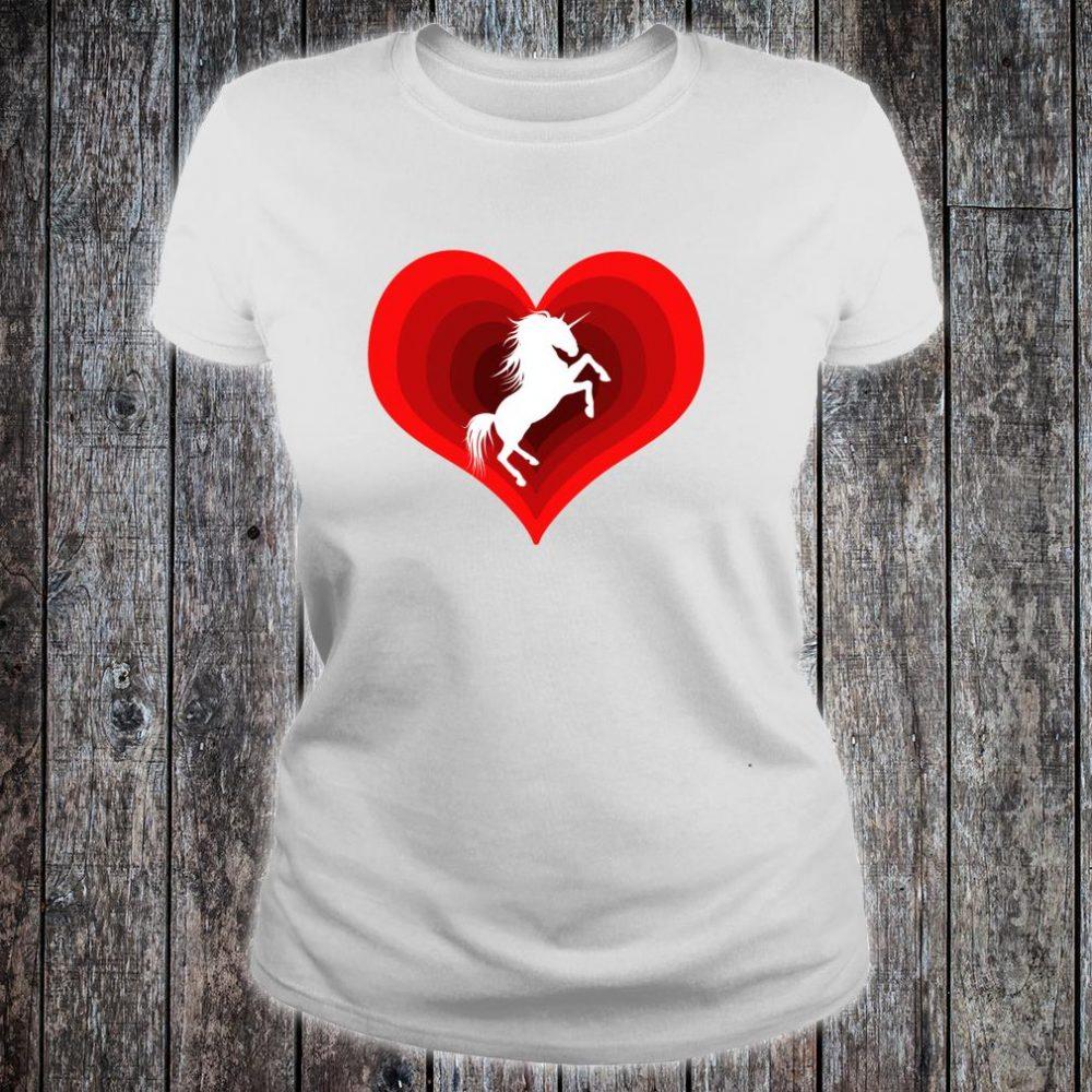 Unicorn Unicorns Unicorne Love Heart Shirt ladies tee
