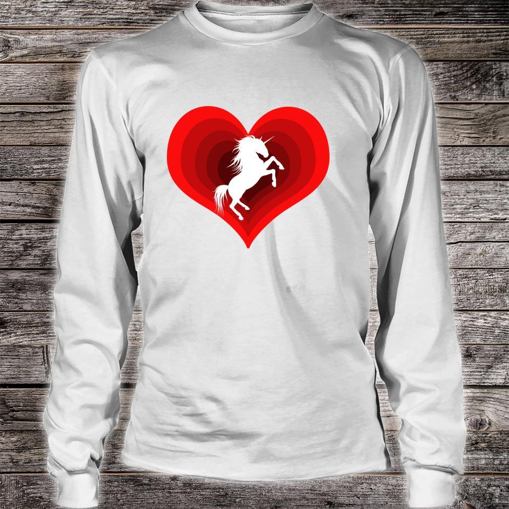 Unicorn Unicorns Unicorne Love Heart Shirt long sleeved