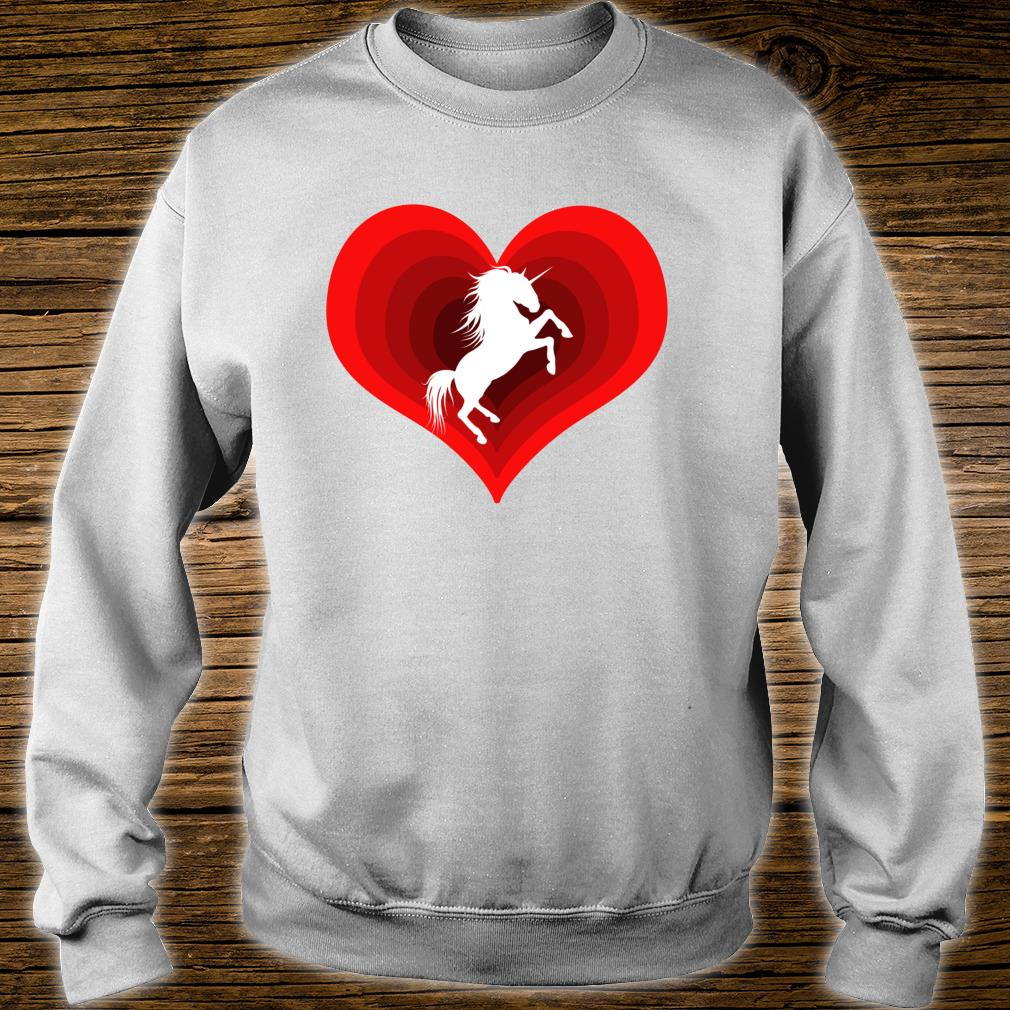 Unicorn Unicorns Unicorne Love Heart Shirt sweater