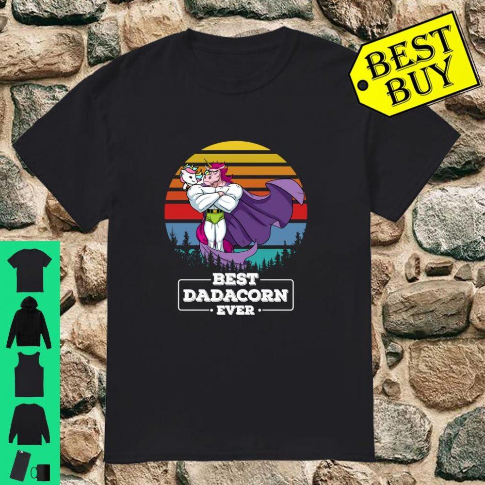 Unicorn Vintage, Best Dadacorn Ever Father Day Gift shirt