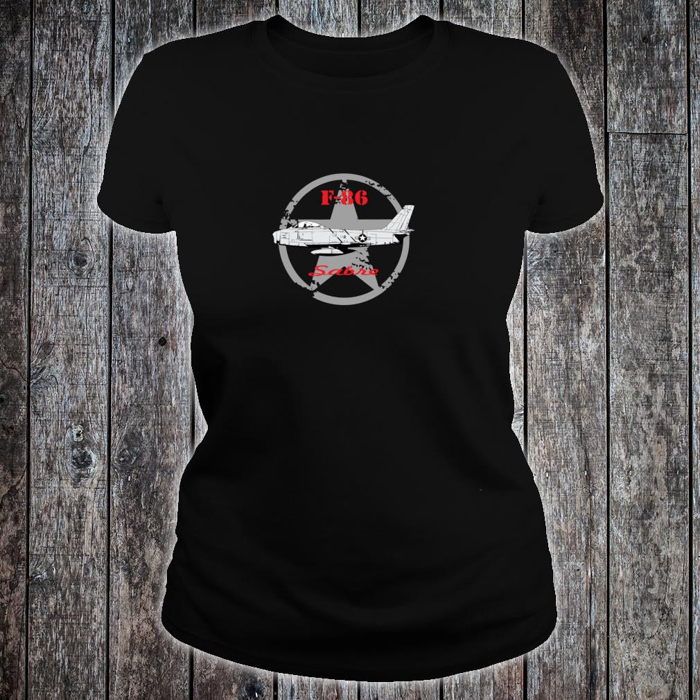 United States Air Force U.S.A.F. airplane F86 Sabre Shirt ladies tee