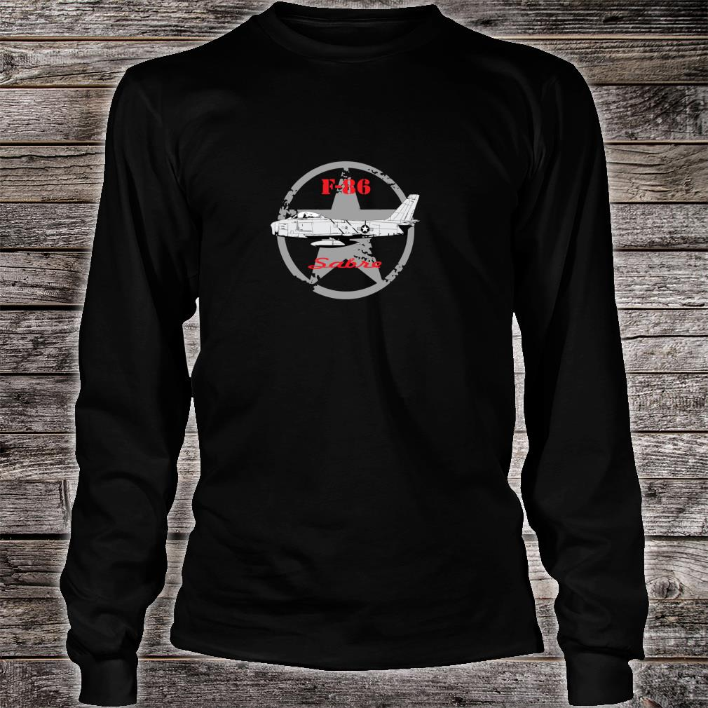 United States Air Force U.S.A.F. airplane F86 Sabre Shirt long sleeved