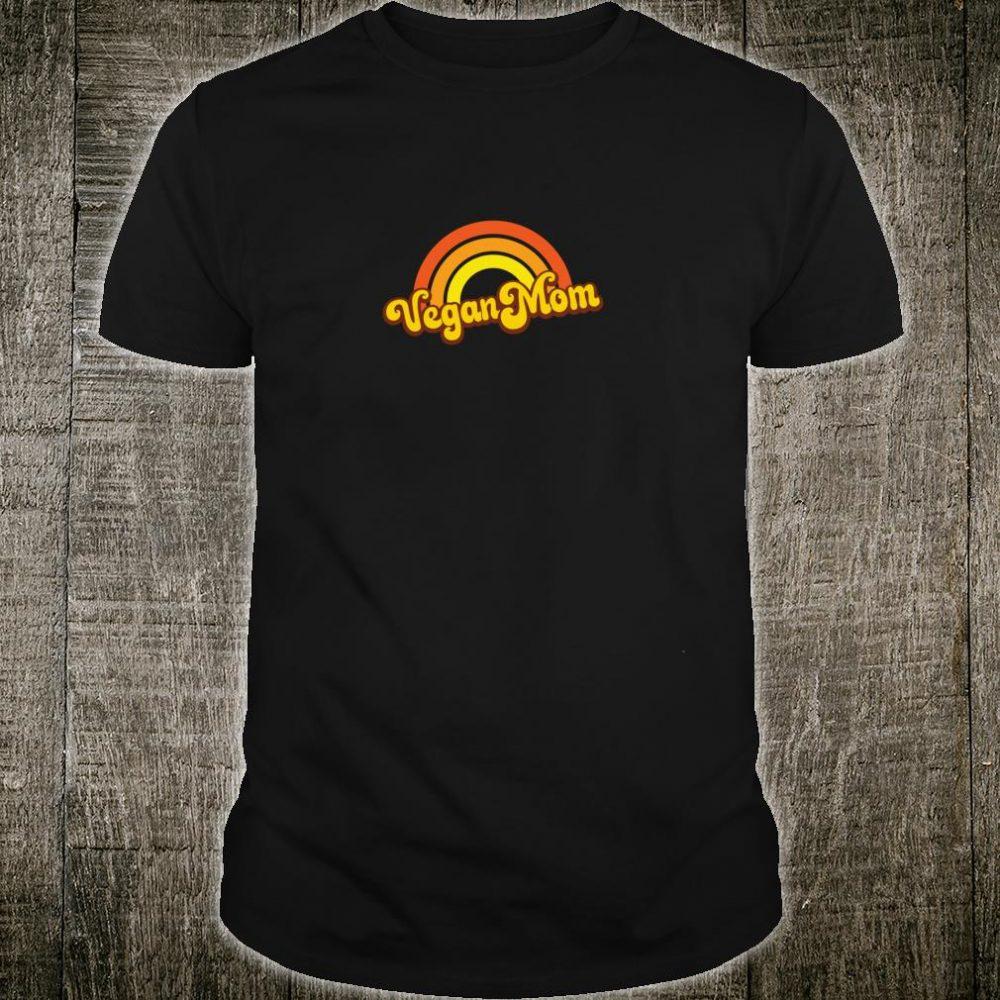 VEGAN MOM 70s & 80s Orange Retro Rainbow Shirt