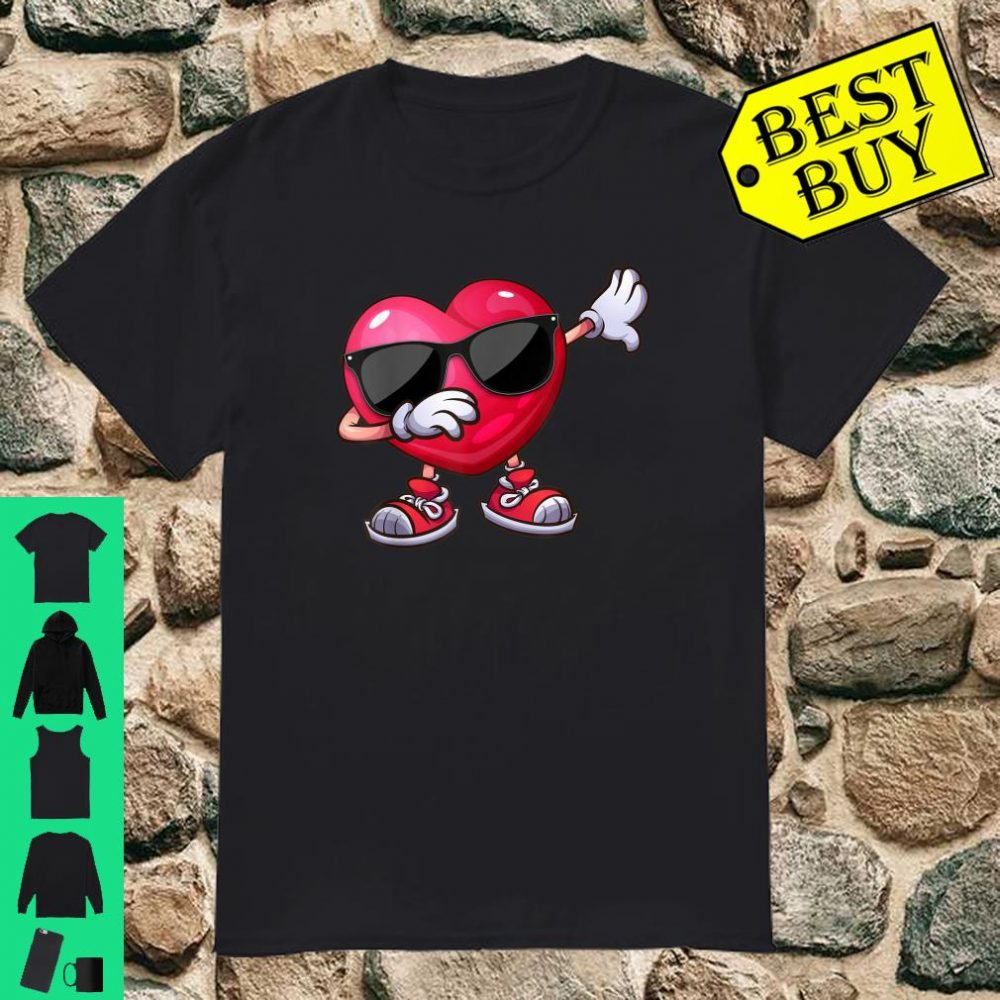 Valentines Day Dabbing Heart Boys Girls Shirt