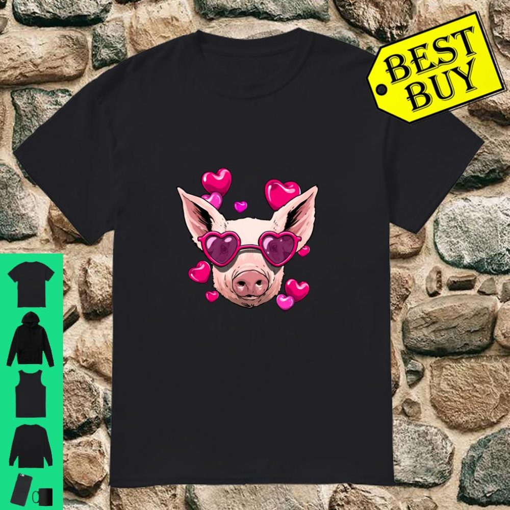 Valentines Day Pig Shirt Pig Gifts Langarm Shirt