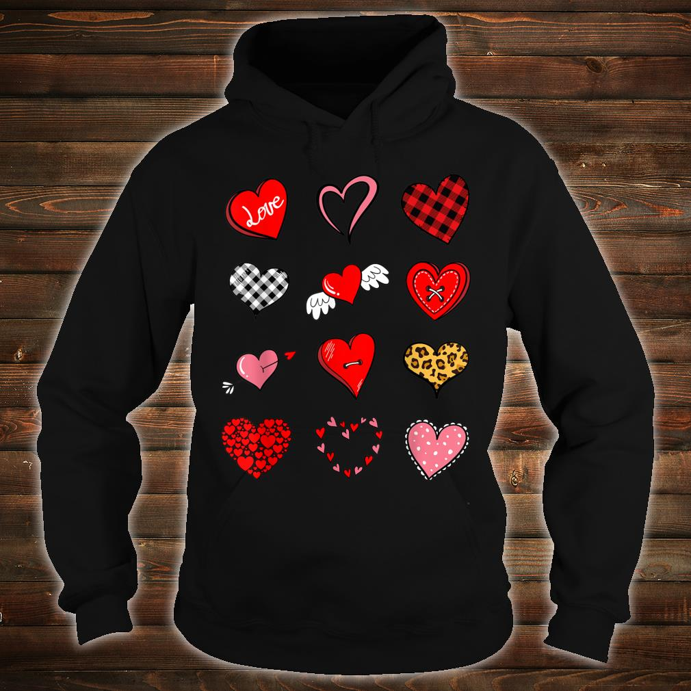Valentines Day Shirt for Girls Leopard Buffalo Plaid Hearts Shirt hoodie