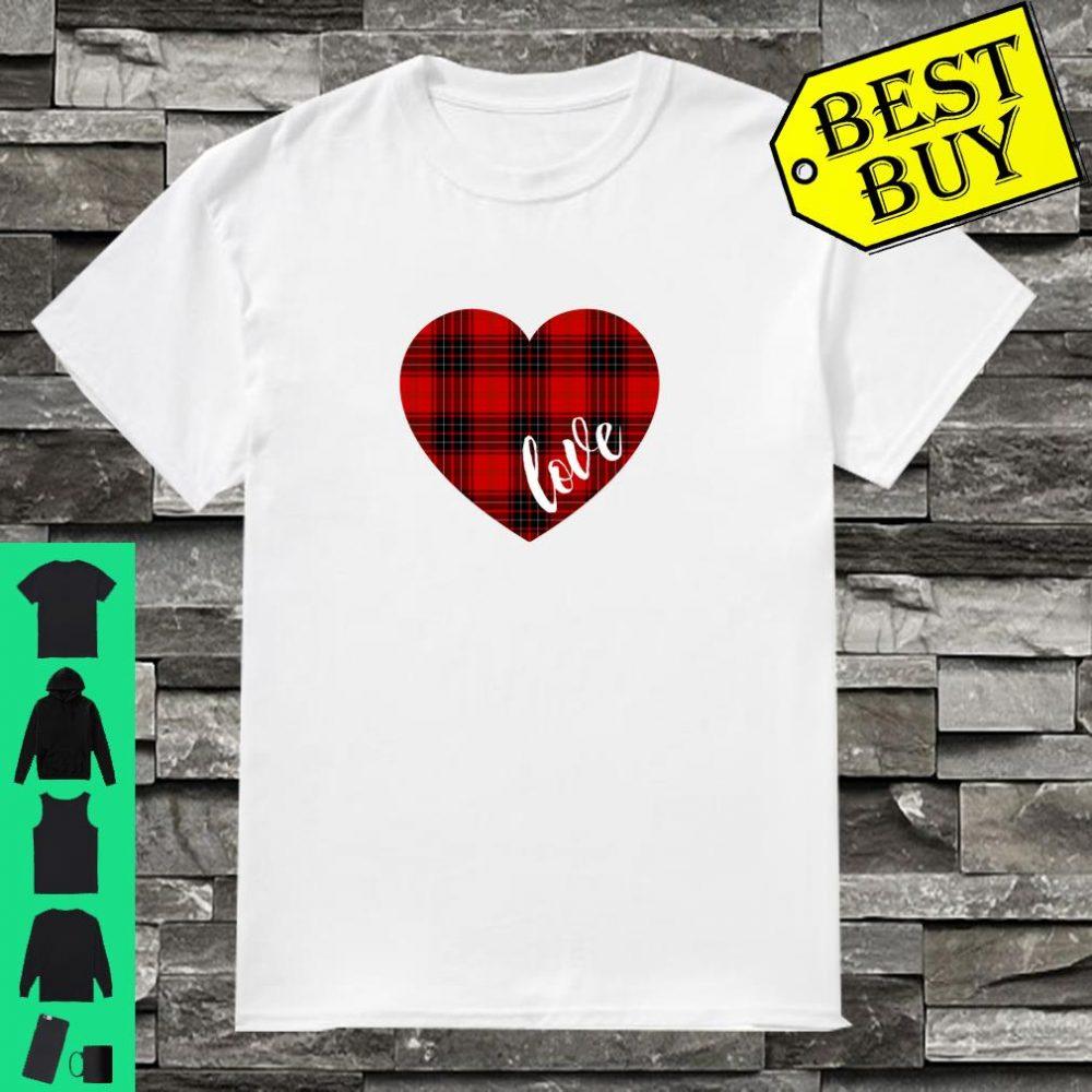 Valentinstag Lumberjack Love PlaidKaromusterHerz Shirt