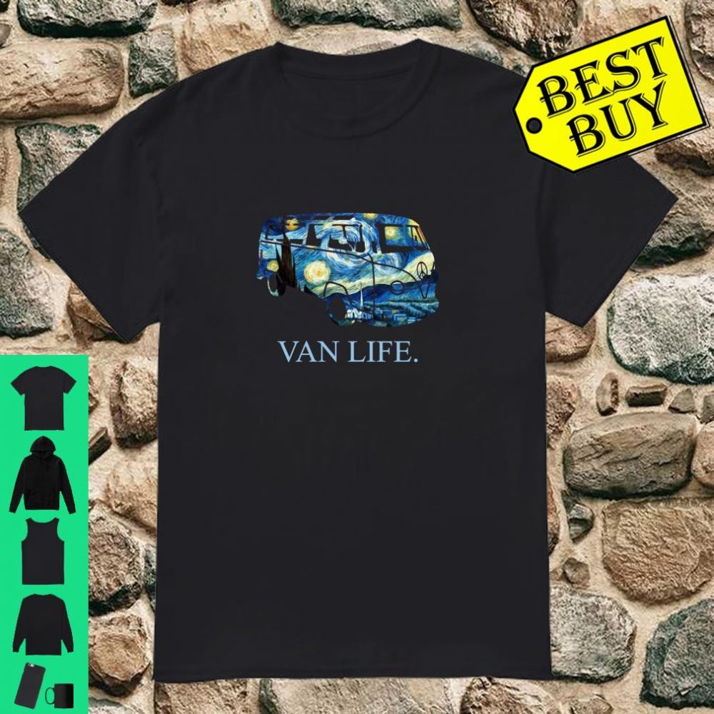 Van Life Starry Night Camper Gift for Nomads Camping s Shirt